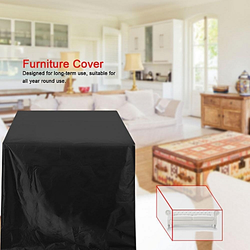 Waterproof Rustproof Furniture Cover 210D Oxford Cloth For Table Chair