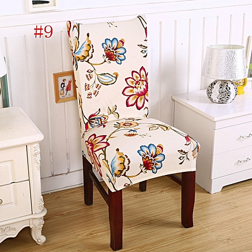 Removable Elastic Stretch Slipcovers Short Dining Room Chair Seat Cover Décor #9