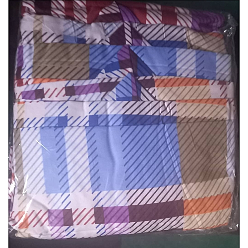 Patterned Quality 6 BY 6 Bedspread With 4 Pillow Cases