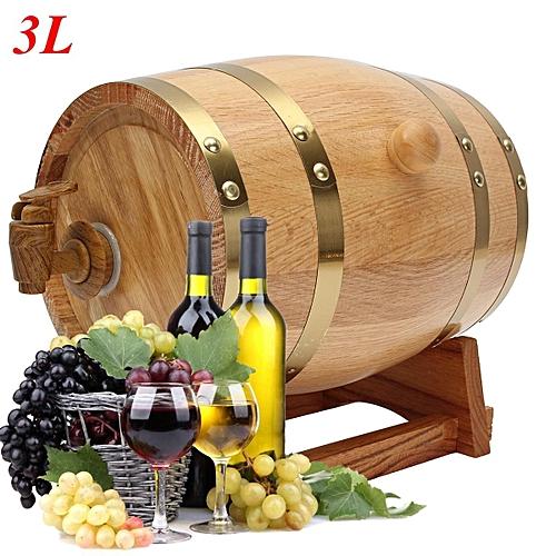 3L Vintage Wood Oak Timber Wine Barrel For Beer Whiskey Rum Port Keg Storage