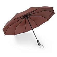 c71eda0d849ee 10 Ribs Folding Umbrellas Large Automatic Women Men Umbrella Windproof  Commercial Business Parasol Rain Tools For