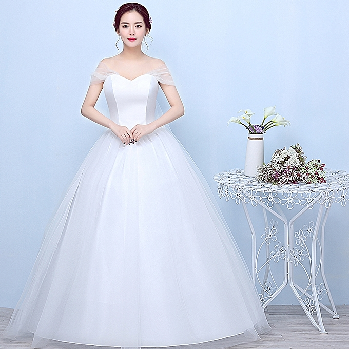 Simple Wedding Dress Divisoria: AFankara Simple Wedding Gowns, White Bride Dress