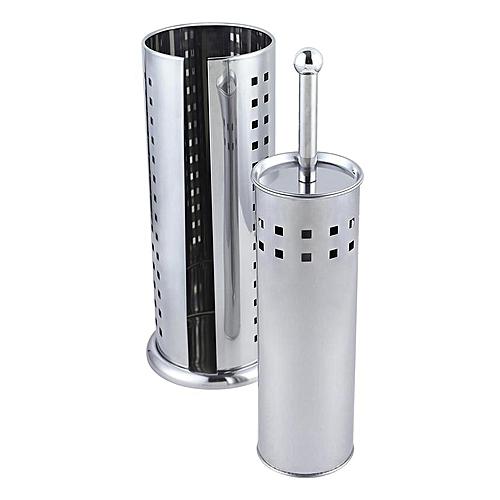 Super Value Toilet Brush & Toilet Roll Holder Squares