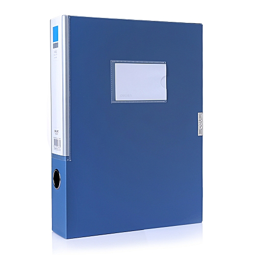 Deli 5683 File Box Office Supplies 100 Page - Blue