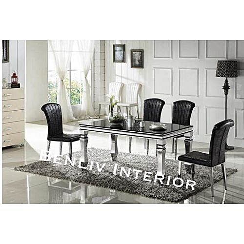 Marble Dining Table + 4 Sitting Chairs (Delivery Within Lagos)