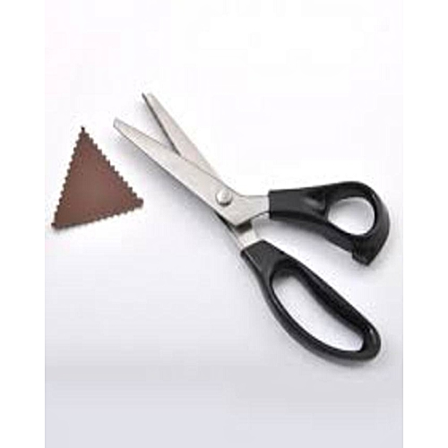 Zig Zag Stainless Steel Scissors - Black Plastic Handle