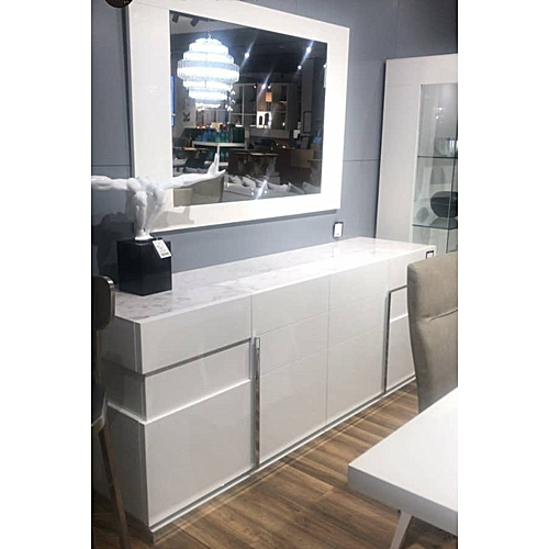 Dinning Side Console - White