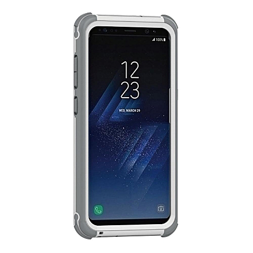 Galaxy S8 Plus Waterproof Case, Water/Dirt/Shock Proof Floating Full-covered Protective Case For Samsung Galaxy S8 Plus, White+Gray