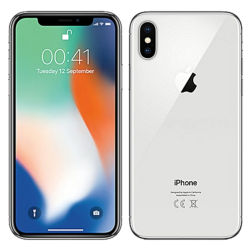 Iphone X 256 GB Sliver + Standard Back Case And Screen Protector