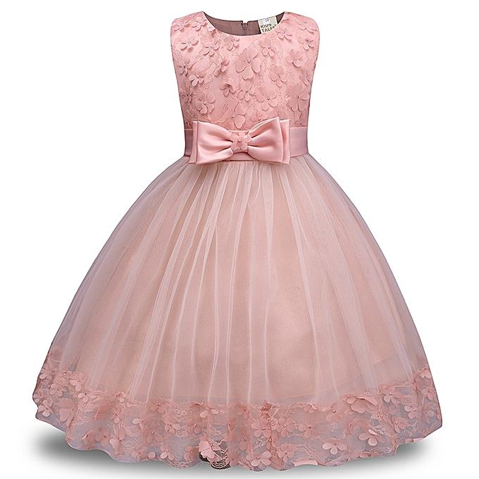 37cdc94d4bb65 Yingwoo Comfortable Children Dress Lace Dress Girls Bow Dress Skirt ...