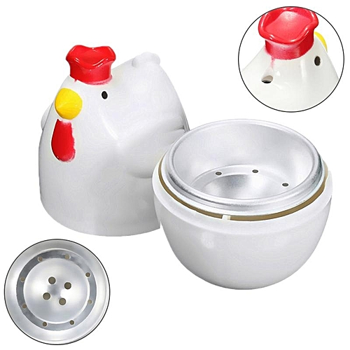 Home Chicken Shaped Microwave 1 Egg Boiler Steamer Cooker Kitchen Cooking Gadget Appliance Egg Cooker Cooking Tool