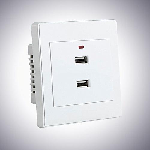 2.1A Two-hole USB Charging Socket