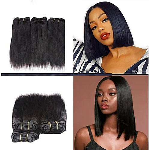 Straight Hair - 3 Bundles For Full Hair - 8 Inches