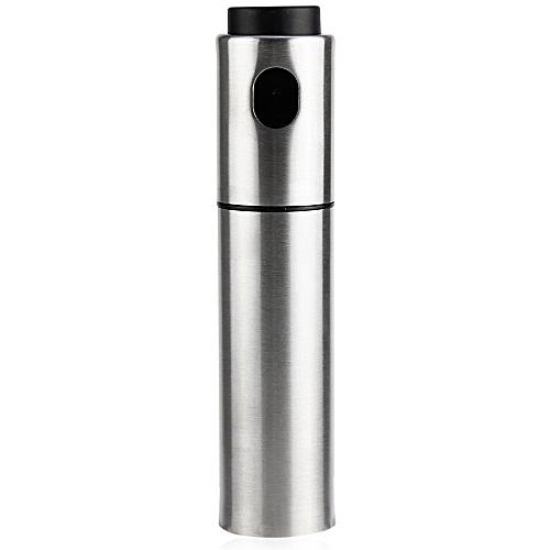 Silver Stainless Steel Olive Oil Spraying Bottle Vinegar Sprayer 135ml