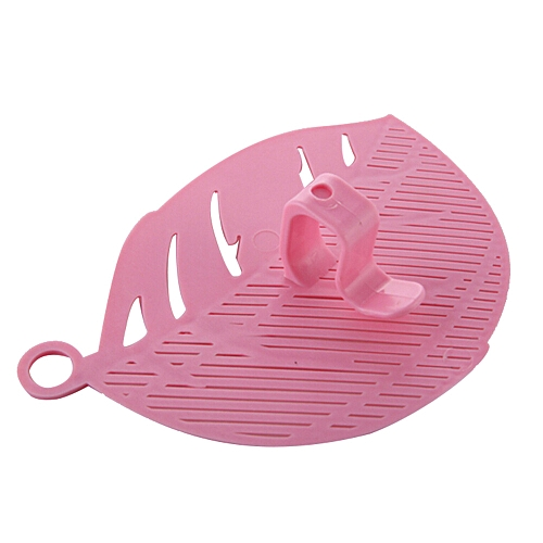 Durable Clean Leaf Shape Rice Wash Sieve Cleaning Gadget Kitchen Clips Pink