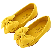 9e54706171a3 Shoes Baby Girl Shoes Children Bow Princess Shoes Yellow
