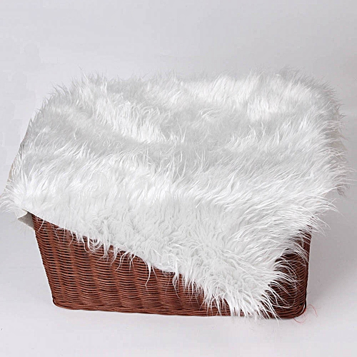 Newborn photography props faux fur stuffe background baby photo soft blanket for baby