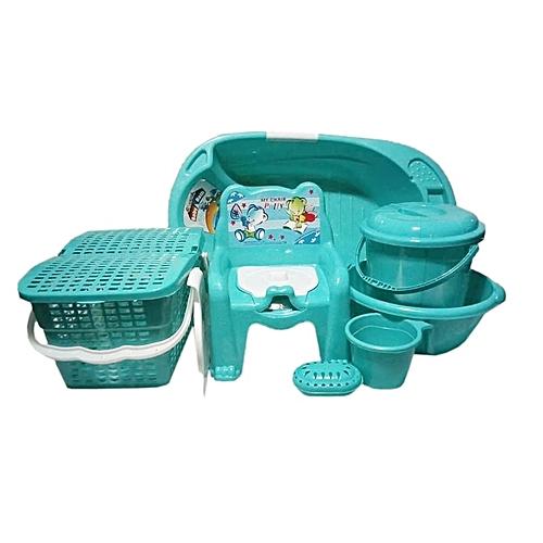 Baby Bath Set - 7pcs -Mint Green