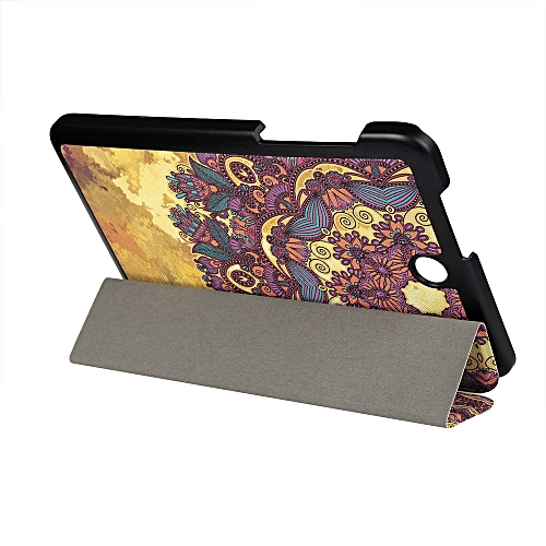 Painting Folding Stand Leather Case Cover For Acer B1-850 D