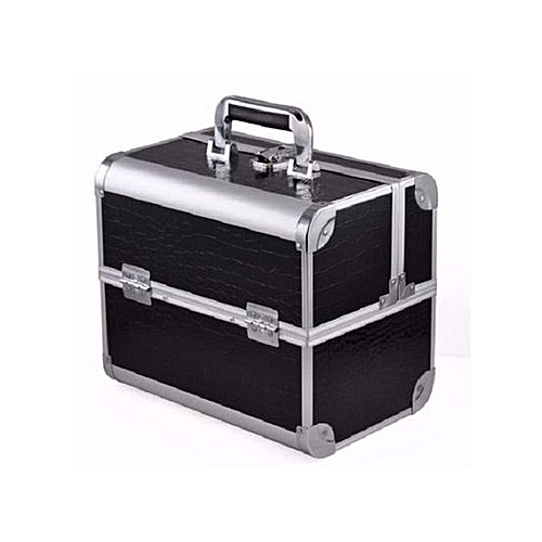Make up for you Make Up For You Professional Makeup Box - Black & Silver.