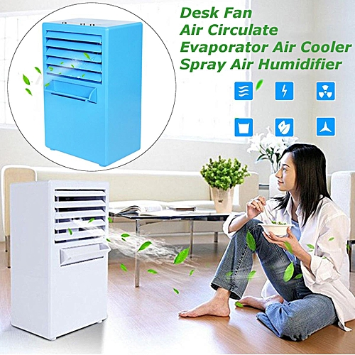 Mini Desktop Air Conditioning Fan Air Evaporation Cooling Cycle Spray Humidifier