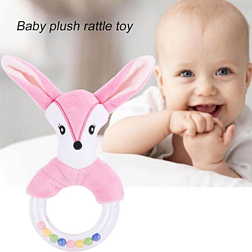 Cute Animal Shaped Baby Hand Bell Rattle Stick Infant Children Funny Plush Toys