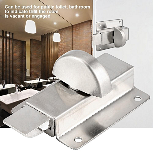 Bathroom Toilet Privacy Bolt Door Lock With Vacant Engaged Indicator And Screw Fittings