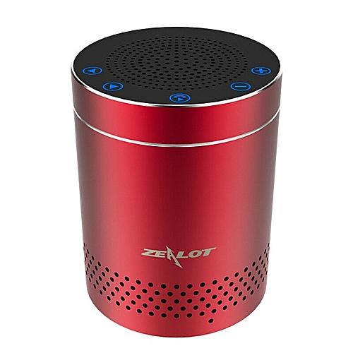 S15 Bluetooth Column Super Bass Stereo Wireless Speaker Subwoofer Handsfree With MIC Mini Speaker (Red) BCN