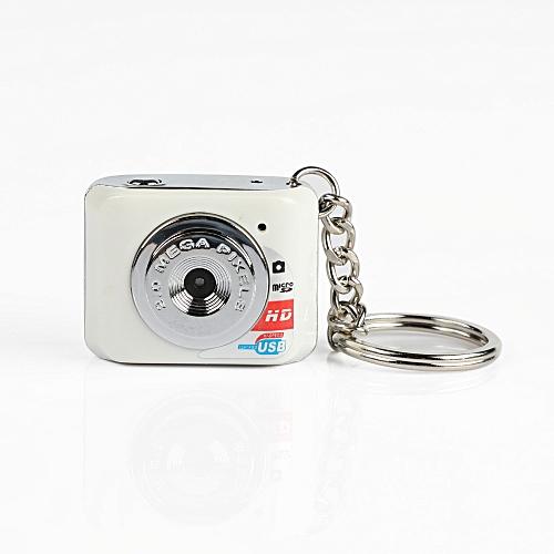 DOITOP Mini HD Camera Ultra Portable Keychain Camera X3 Video Recorder Digital Small Camera DV 480P DV DVR Driving Recorder-White