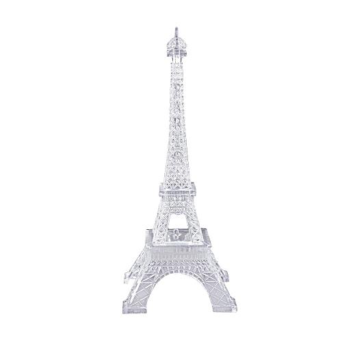 Haojks-Romantic Eiffel Tower LED Night Light Lamp Desk Table Home Bedroom Decorate Gif