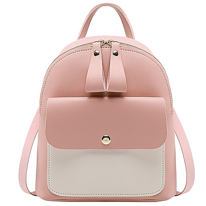 3ba0da7879e2 HTNBO 2019 Women Leather Backpack Children Backpack Mini Backpack Women  Cute Panelled Backpacks For Teenage Girls Small Bag