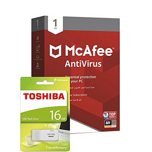 AntiVirus 1 PC & Toshiba USB Flash Drive 16GB