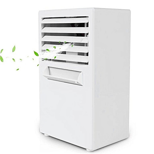 Mini Air Conditioning Fan Low Noise Home Cooler Digital Cooling System White