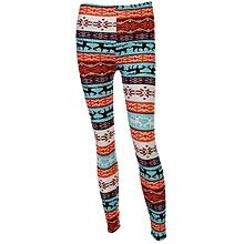 1a0d599fb85a6 Women Fashion Warm Straight Fit Pant Snowflake Cotton Blend Legging All  Match Christmas Deer Snow Pant