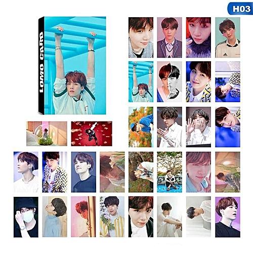 30pcs/set K-POP BTS Bangtan Boys LOVE YOURSELF Answer Album Self Made Lomo Cards Paper Photo Card Poster HD Photocards
