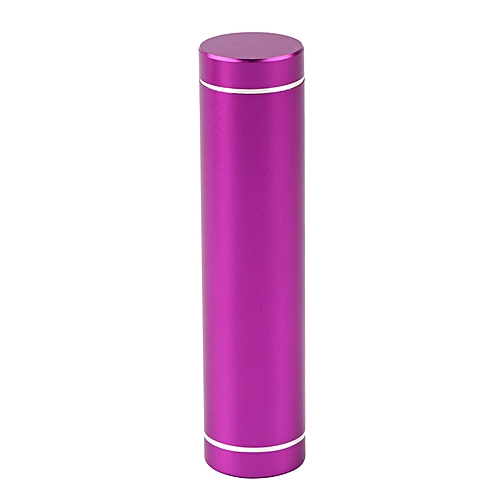 Mini USB Mobile Power Bank Charger Pack Box Battery Case For 1x 18650 Battery-Purple