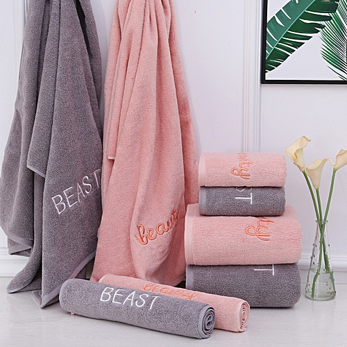 Quick-Dry Towels - 100% Cotton Bath Towels Super Soft Highly Absorbent Towels Pink