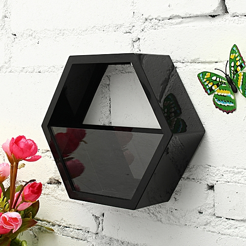Wall Acrylic Hexagon Flower Plant Holder Display Rack Planter Storage Unit