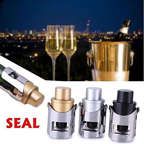 3 Pcs Elegant Bottle Stopper Stainless Steel Wine Champagne Beer Sealer Reusable Plug
