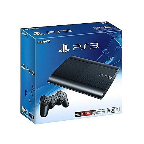 Ps3 Console Superslim 500GB With 20 Bonus Games With FIFA 19 And Pes 19