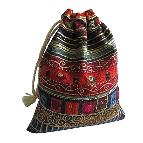Benhongszy 3Pcs Thickened Double Layer Cotton Drawstring Bag Clothing Travel Pocket Bag For Christmas Travel Gift Color Random Dropshipng