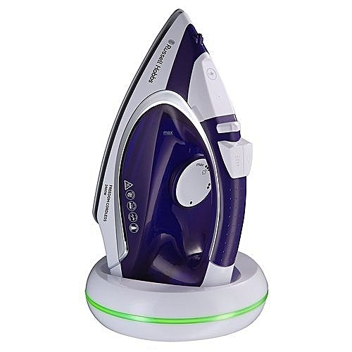 Versatile 2400W Freedom Cordless Steam Iron - 5 Seconds Fast Recharge + Smart Light Prompter - Ceramic Non-Stick Soleplate - By Russell Hobbs, UK