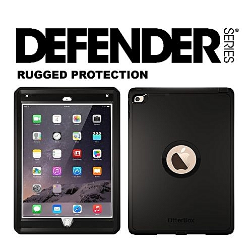 Defender Rugged Protection Series Case With Screen Protector And Stand For  IPAD-Black