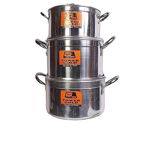 Gold 3pcs Cooking Pots