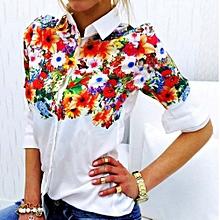 Women Blouse New Chiffon Long Sleeve Ladies Top T Shirt Loose Short Tops fe7581c27