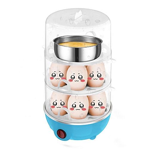 Multifunctional Ttriple-Layer Electric Eggs Boiler Cooker Steamer Chinese Plug 220V