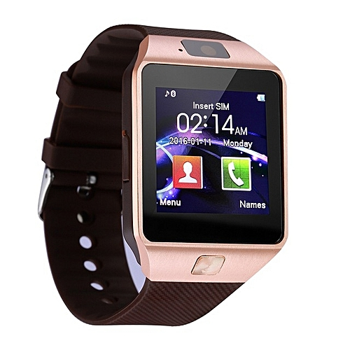 b3638f1d88c Generic Bluetooth Smart Watch Smartwatch DZ09 Android Phone Call Relogio 2G  GSM SIM TF Card Camera For IPhone Samsung HUAWEI PK GT08 A1(Gold)