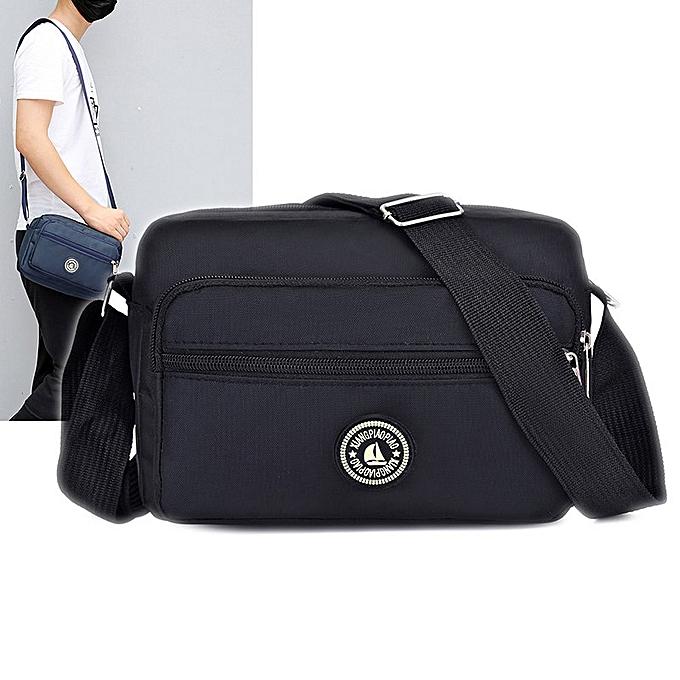 20a0cb69ff7f Men Oblique Cross Bag Trend Single Shoulder Oblique Carry Female Bag Nylon  Oxford Cloth Bag Middle-Aged Men Bag Casual Bag