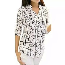 1ed3a37bcce96 Ladies Women Pretty Top - White And Black (A1a)