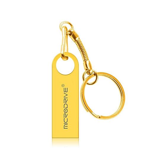 MicroDrive 32GB USB 2.0 Metal Waterproof High Speed U Disk(Gold)